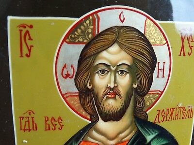 Quality Russian Gilt Icon of St Nicholas Russia Lacquer on fine timber 20th