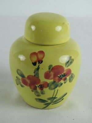 Old Chinese Yellow Ground Hand Painted Famille Rose Ginger pot China