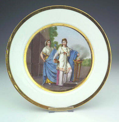 Antique Continental Porcelain - Hand Painted - Neo Classical Plate - Beautiful!