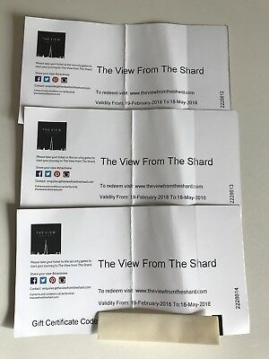 The View From The Shard Tickets X 3