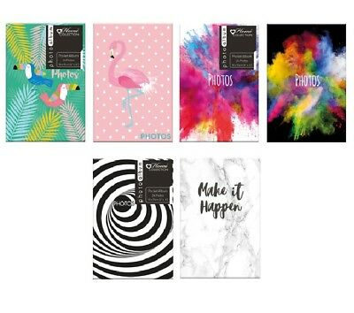 """Twin Pack Pocket Photo Albums Each Holds 24 Photos 6"""" x 4"""" Travel Party GIft"""