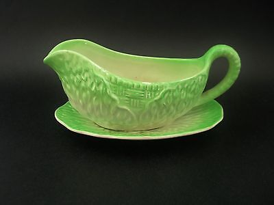 Midwinter Vintage English China Cabbage Leaf Gravy Sauce Boat & Underplate c1930