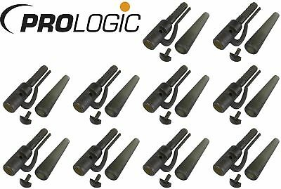 Prologic LM Safety Leadclip & Tailrubber - 10 Leadclips für Karpfenmontage