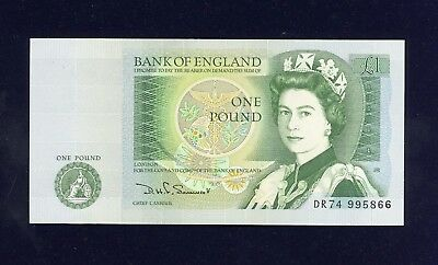 Bank of England 'small' One Pound Note, D.H.F Somerset, 1980-1988.