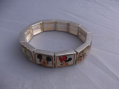 (136) Vintage Official Disney Bracelet  Mickey Minnie Mouse Donald Pluto Goofy