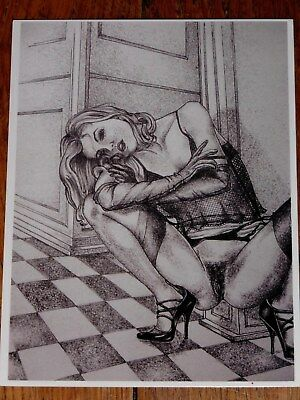 Cp Pin Up Erotique En Noir Et Blanc