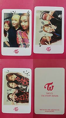 LOT of 3 TWICE UNIT SET Official PHOTOCARD White Ver. 1st Album The Story Begins