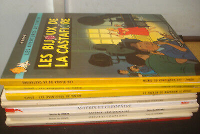 Set of 10 French Language Asterix / tintin  Books, Mixed condition & age.