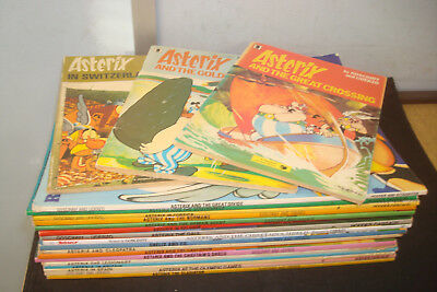 Set of 20 Paperback Asterix Books, Mixed condition, Paperbacks