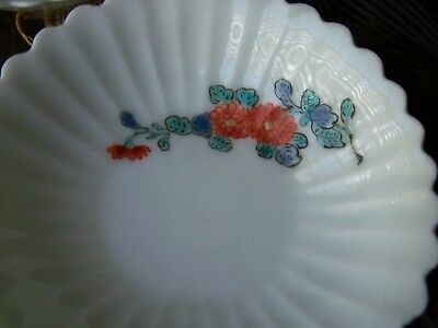 Antique Kakiemon Hand Painted Japanese Porcelain Bowls With Wooden Box