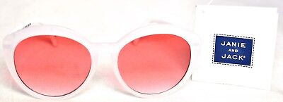 JANIE AND JACK 0-2yrs Baby Sunglasses White/Pink UVA/UVB Blocking >NEW<
