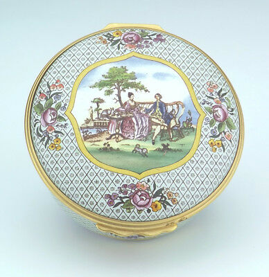 Halcyon Days Enamels - Boston Tea Party Commemorative  Enamel Box - Unusual!