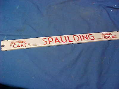 1940s SPAULDING BREAD Advertising COUNTRY STORE Metal DOOR PUSH Plate