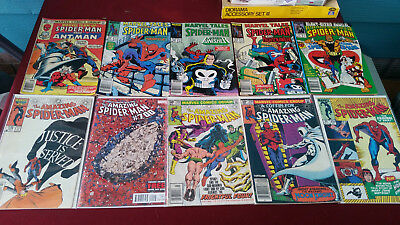 Marvel Comics The Amazing Spider Man Lot of (10) Issues 220.214,259,278,700. +