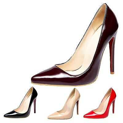 Stiletto Heel Shoes Wedding Ladies Womens Ultra high heels Clubwear UK size 1-10
