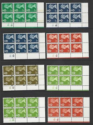 An u/m selection of 23 decimal machin regionals in plate cylinder blocks