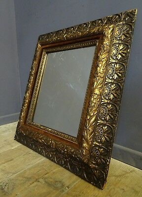 Antique Gilt Carved Wood Gesso Frame With Mirror