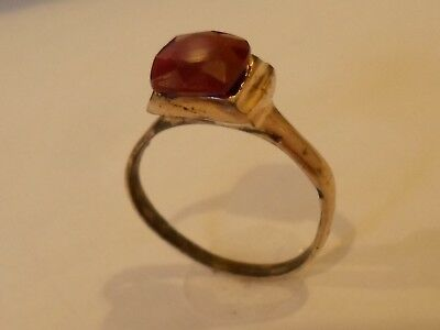 A SUPERB 200-400 A.D ROMAN DETECTOR FIND,AE RING WITH 100% REAL  1.8 ct RUBY..