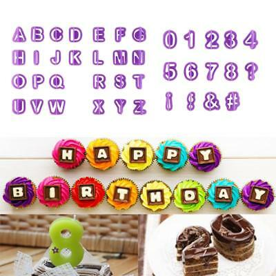 40pcs Alphabet Letter Number Fondant Cake Baking Mould Cookie Cutters Tool SS#20