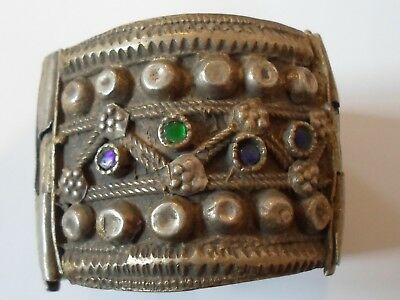 ABSOLUTELY STUNNING.POST MEDIEVAL/BEDOUIN AE BRACELET WITH RED GLASS/STONES 70g.