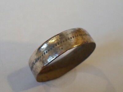 GENUINE 13th-15th CENTURY DETECTOR FIND MEDIEVAL WEDDING RING. POLISHED