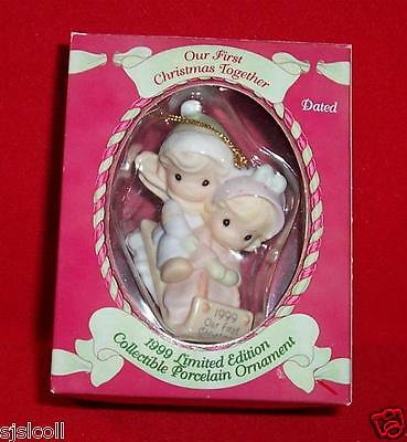 Precious Moments 1999 OUR First CHRISTMAS TOGETHER 1st Ornament Porcelain 587796