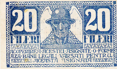 20 Fileri Vf Banknote From Transylvania/timisoara 1919!rare