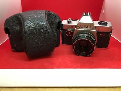 Vintage Ricoh 126C-Flex TLS Camera And Case