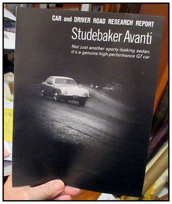 1963 Studebaker Avanti Car and Driver Research Report 6 pages