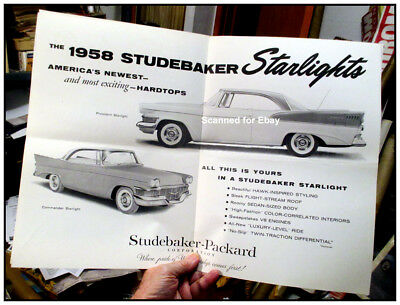 Studebaker News Dec 1957 w 1958 cars 6 pages hardtops big centerfold