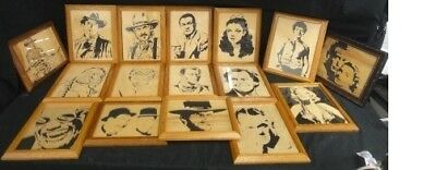 16 Fred's Scroll Saw Creations Celebrity Carvings Amazing Collection Rare Must C
