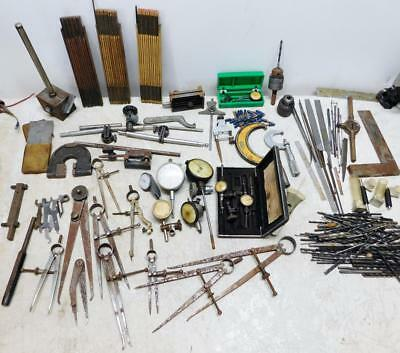Large Lot Vintage Machinist Tools Starrett Stanley Brown & Sharpe Dial Calipers