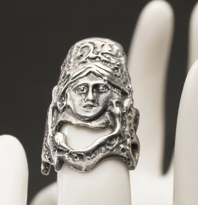 Antique  With Face Very Unique Heavy Sterling Silver Thimble  L@@K  NO~RESERVE
