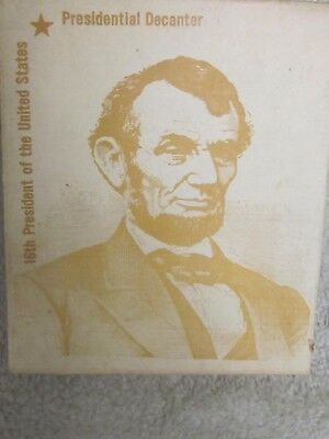 Wheaton 'Honest Abe'presidential decanter-new 'old stock'in box,Millville,NJ