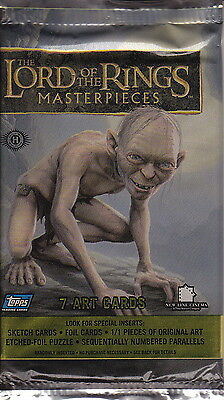 LORD OF THE RINGS - Masterpieces Hobby Card Packs (17) #NEW