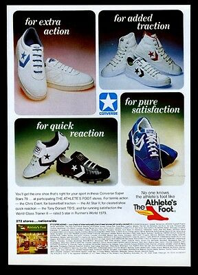 1979 Converse All-Star II basketball show Tony Dorsett cleats 8 shoe photo ad