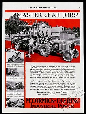1930 International Harvester McCormick-Deering tractor 5 photo vintage print ad