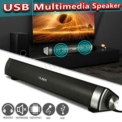 MUSES USB Multimedia Speaker Audio Sound Bar Soundbar For Computer PC Laptop