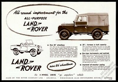 1954 Land Rover photo and art UK vintage print ad