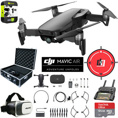 DJI Mavic Air Onyx Black Drone Deluxe Fly Case & Warranty Extension Value Bundle