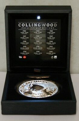 Collingwood Magpies Afl Replica Premiership Medal Led Light Display Box Buckley