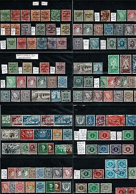#183 Ireland Eire from 1922 pre-decimal collection M/U on 8x cards