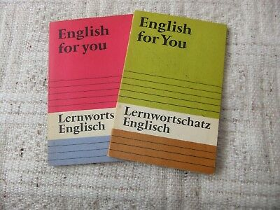 2 x Lernwortschatz  Englisch ( English for You ) (DDR)