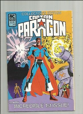 Captain Paragon 1 collector's edition 1983 Ms Victory Good Girl AC Comics SCARCE