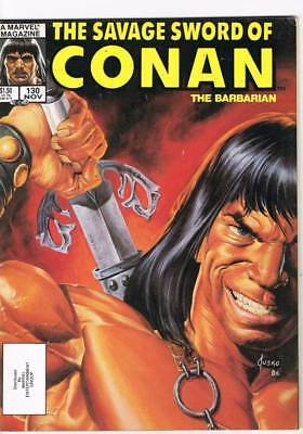Savage Sword of Conan # 130 Autumn of the Witch ! grade 8.0 scarce mag !!