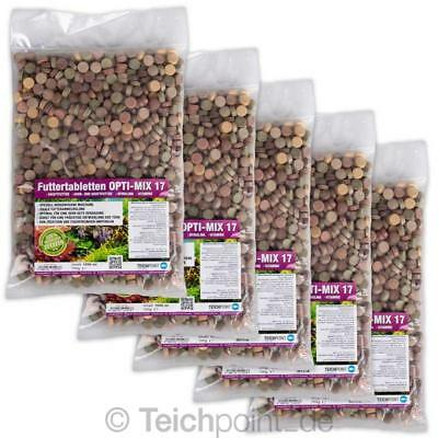 (€9,60/L)5 Ltr.PREMIUM TOP Futtertabletten OPTI-MIX 17 Aquarium Tablettenfutter