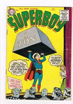 Superboy # 44 Amazing Adventures of Superboy's Costume ! grade 3.5 scarce book !