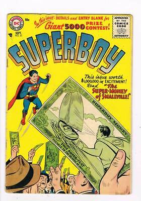 Superboy # 51 The Secret Lives of Superboy ! Krypto app grade 3.0 scarce book !!