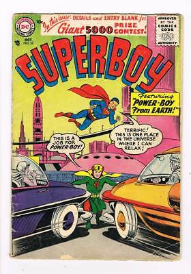 Superboy # 52 The Heroine of Smallville ! grade 2.5 scarce book !!