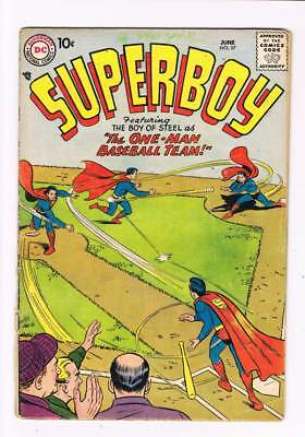 Superboy # 57 The Strong Boys of Smallville ! grade 1.5 scarce book !!